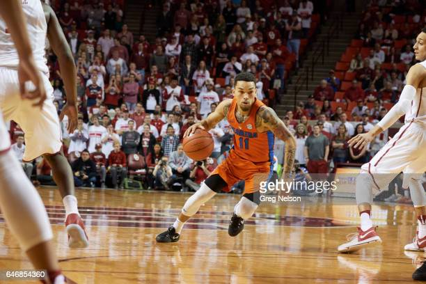 Florida Chris Chiozza in action vs Oklahoma at Lloyd Noble Center Norman OK CREDIT Greg Nelson
