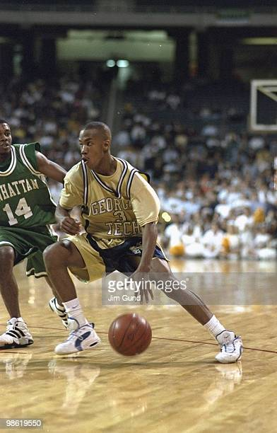 Georgia Tech Stephon Marbury in action vs Manhattan College Atlanta GA CREDIT Jim Gund