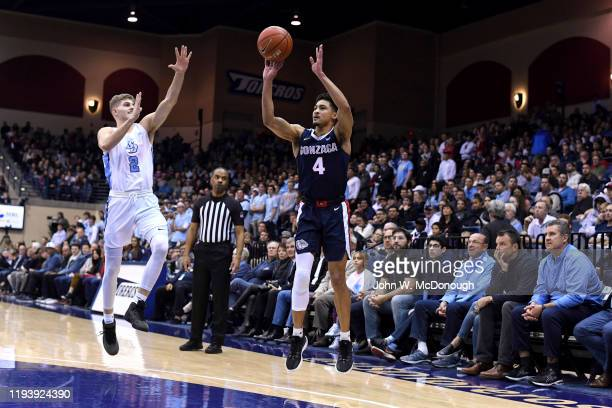 Gonzaga Ryan Woolridge in action shooting vs San Diego at Jenny Craig Pavilion San Diego CA CREDIT John W McDonough
