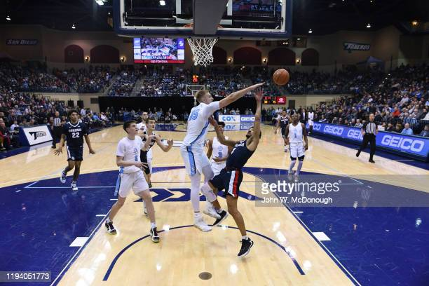 Gonzaga Ryan Woolridge in action vs San Diego Yauhen Massalski at Jenny Craig Pavilion San Diego CA CREDIT John W McDonough