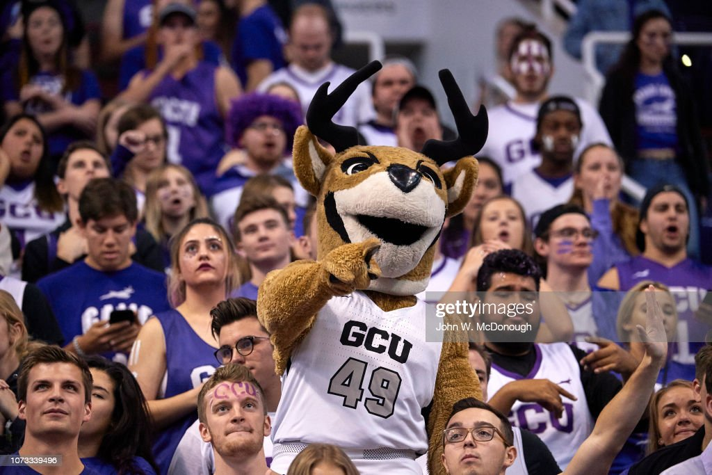 Grand Canyon Mascot Thunder The Antelope In Stands During