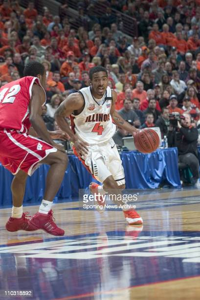 College Basketball Illinois Luther Head against Wisconsin Alando Tucker during the Big 10 Tournament at the United Center in Chicago Ill March 13...