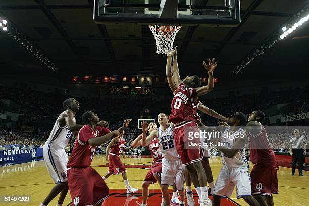 College Basketball: Indiana Pat Ewing Jr, in action vs Kentucky Patrick Sparks , Louisville, KY
