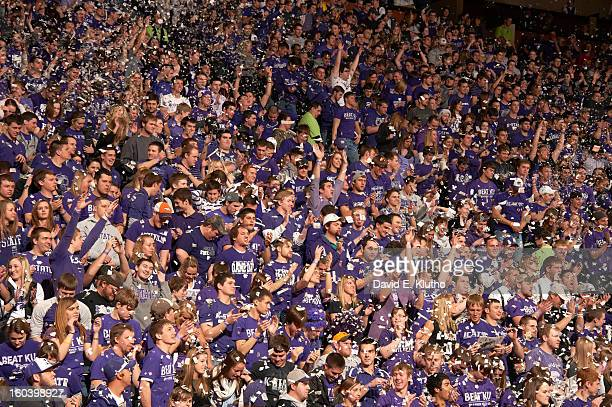 Kansas State fans in stands during game vs Kansas at Bramlage Coliseum Manhattan KS CREDIT David E Klutho