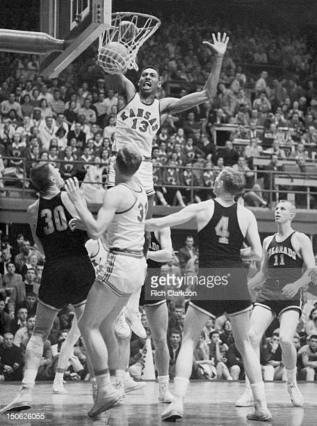 Kansas Wilt Chamberlain in action dunking vs Colorado at Allen Fieldhouse Lawrence KS CREDIT Rich Clarkson