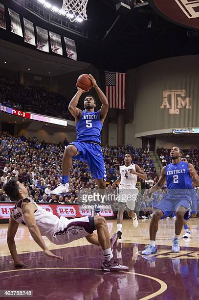Kentucky Andrew Harrison in action vs Texas AM Alex Robinson at Reed Arena College Station TX CREDIT Greg Nelson