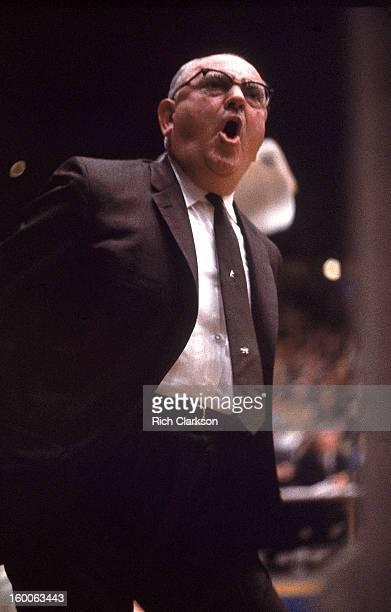 Kentucky coach Adolph Rupp during game vs Alabama at Memorial Coliseum Lexington KY CREDIT Rich Clarkson