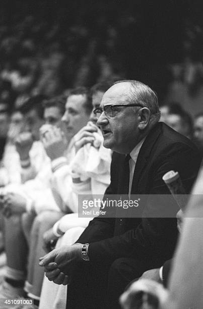 Kentucky head coach Adolph Rupp on sidelines during game vs Mississippi at Memorial Coliseum Lexington KY CREDIT Neil Leifer