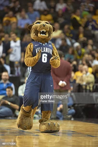 Legends Classic Villanova Wildcats mascot Will D Cat on court during game vs VCU at Barclays Center Brooklyn NY CREDIT Porter Binks