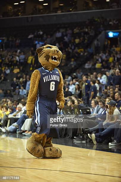 Legends Classic Villanova Wildcats mascot Will D Cat on court during Championship Game vs Michigan at Barclays Center Brooklyn NY CREDIT Porter Binks