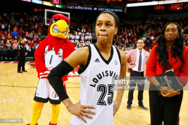 Louisville Asia Durr after game vs North Carolina State at KFC Yum Center Louisville KY CREDIT David E Klutho