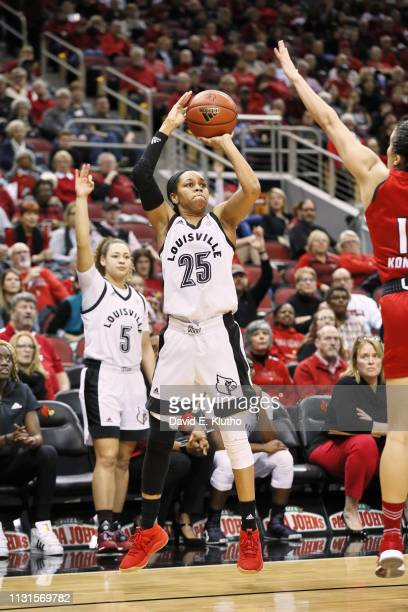 Louisville Asia Durr in action shooting vs North Carolina State at KFC Yum Center Louisville KY CREDIT David E Klutho