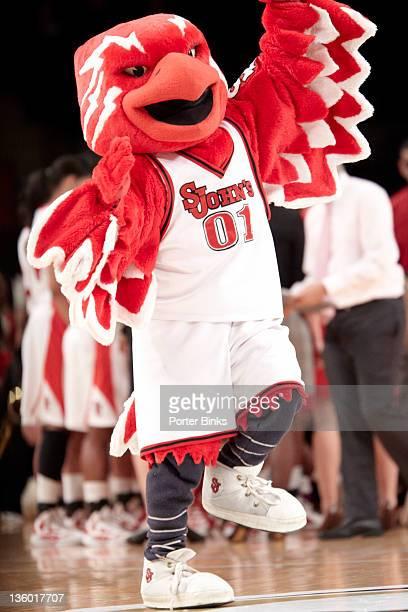 Maggie Dixon Classic: St. John's mascot Johnny Thunderbird during St. John's vs Baylor game at Madison Square Garden. New York, NY CREDIT: Porter...