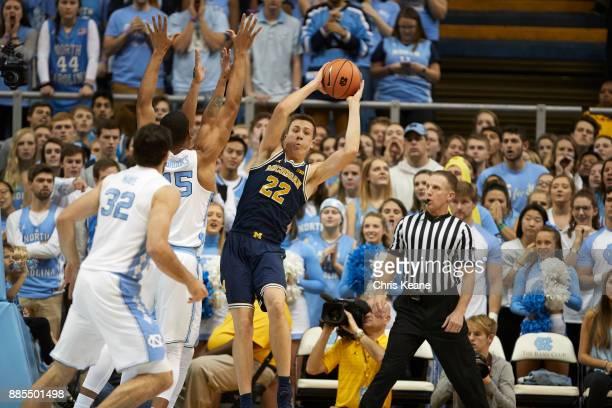 Michigan Duncan Robinson in action vs North Carolina at Dean Smith Center Chapel Hill NC CREDIT Chris Keane