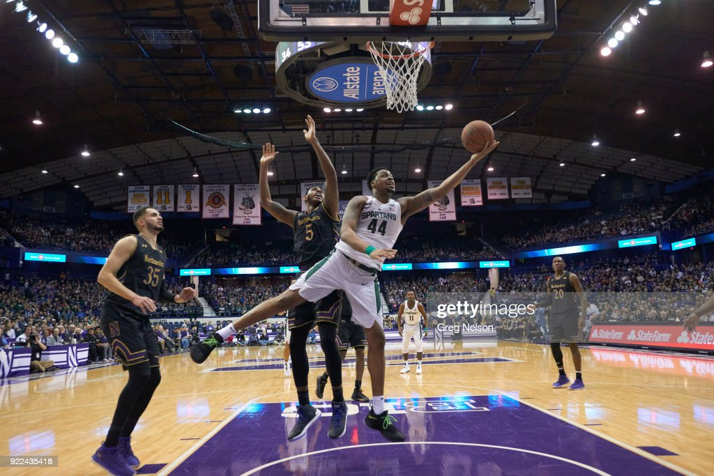 Northwestern University vs Michigan State University : Nachrichtenfoto