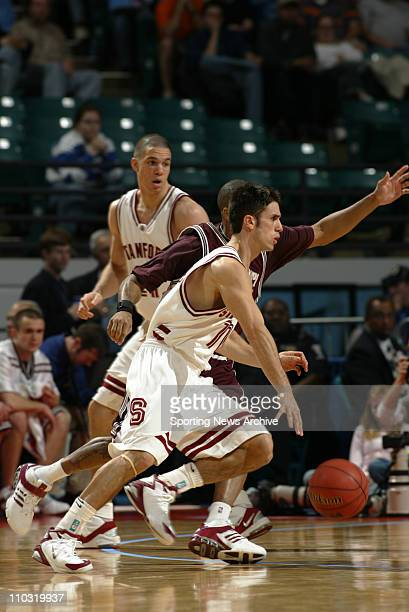 College Basketball - Mississippi State Gary Ervin against Stanford Chris Hernandez during the first round of the NCAA Tournament at the Charlotte...