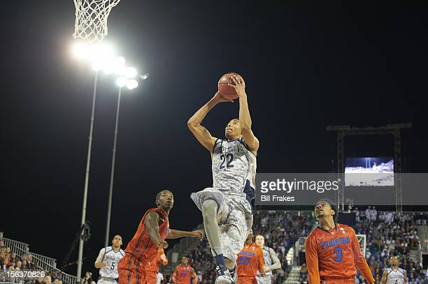 NavyMarine Corps Classic Georgetown Otto Porter in action vs Florida aboard the USS Bataan amphibious assault ship docked at Naval Station Mayport...