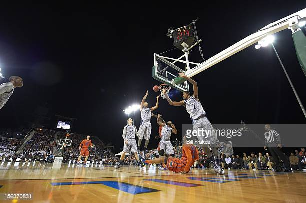 NavyMarine Corps Classic Georgetown Otto Porter Greg Whittington and D'vauntes SmithRivera in action vs Florida Mike Rosario aboard the USS Bataan...