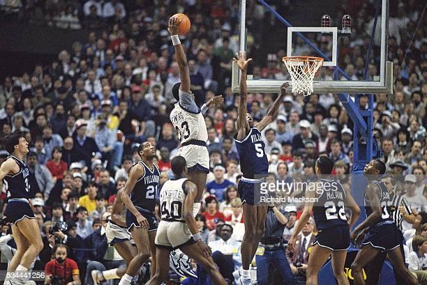 NCAA Final Four Georgetown Patrick Ewing in action dunk vs Villanova at Rupp Arena Lexington KY CREDIT Richard Mackson