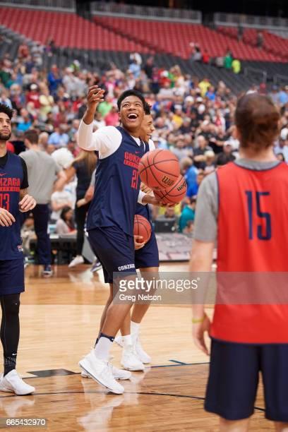 NCAA Final Four Gonzaga Rui Hachimura during practice before National Semifinals at University of Phoenix Stadium Glendale AZ CREDIT Greg Nelson