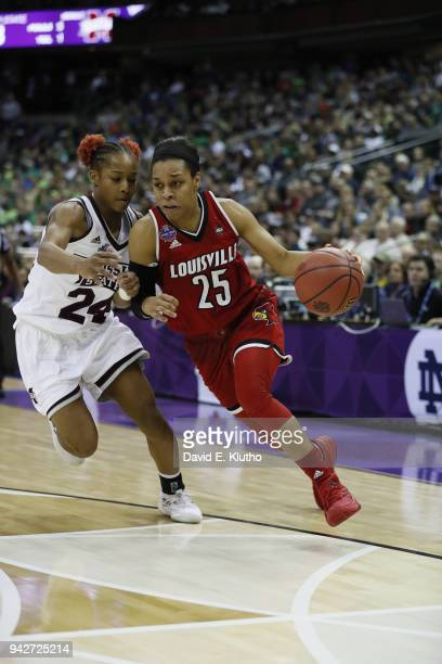 NCAA Final Four Louisville Asia Durr in action vs Mississippi State Jordan Danberry at Nationwide Arena Columbus OH CREDIT David E Klutho