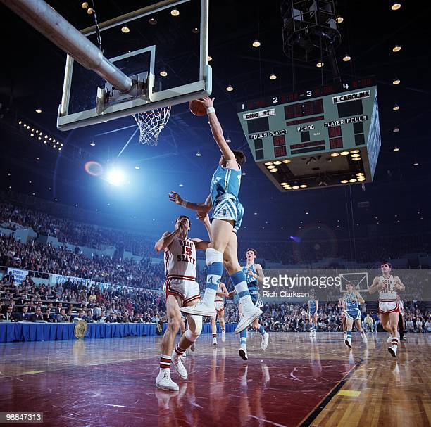 NCAA Final Four North Carolina Larry Miller in action shot vs Ohio State Los Angeles CA 3/21/1968 CREDIT Rich Clarkson
