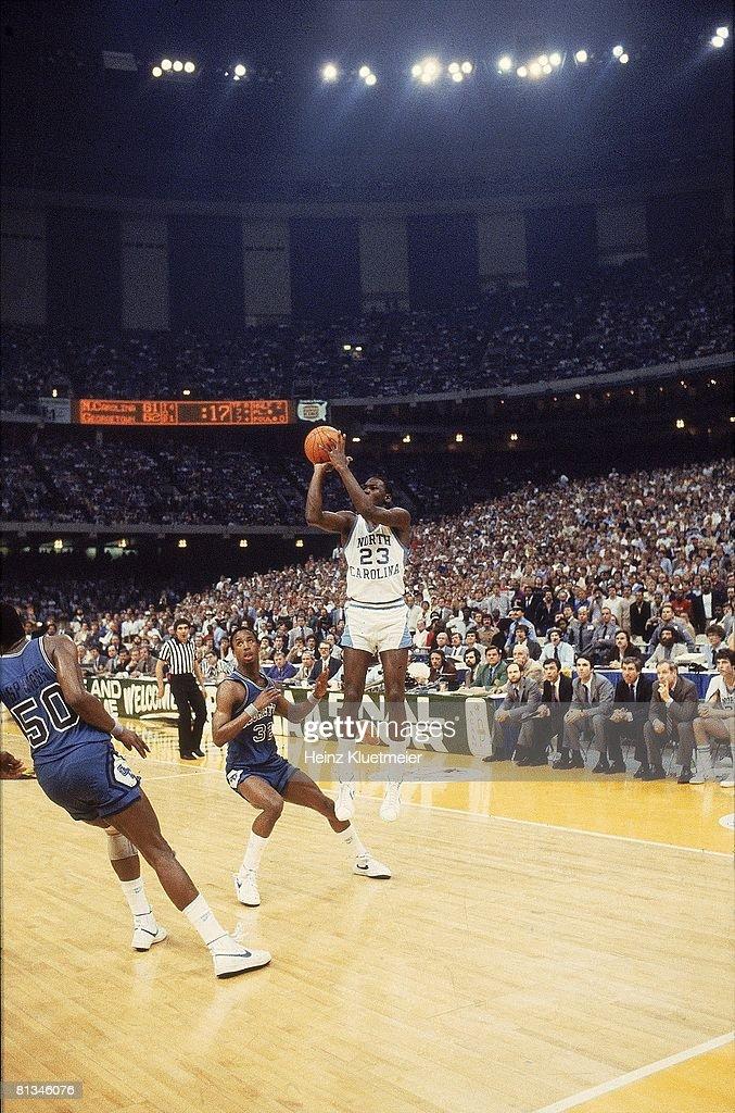 North Carolina Michael Jordan, 1982 NCAA National Championship : News Photo