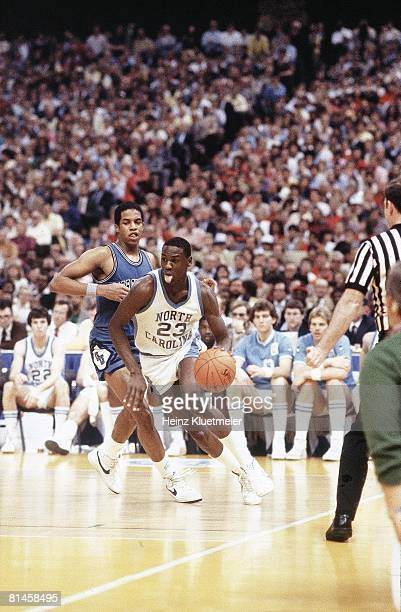 College Basketball NCAA Final Four North Carolina Michael Jordan in action vs Georgetown New Orleans LA 3/29/1982