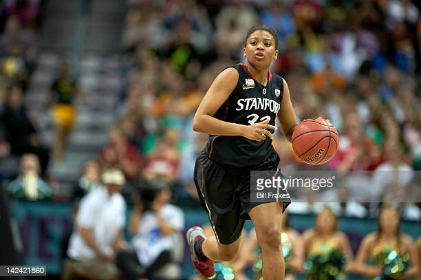 NCAA Final Four Stanford Amber Orrange in action vs Baylor at Pepsi Center Denver CO CREDIT Bill Frakes