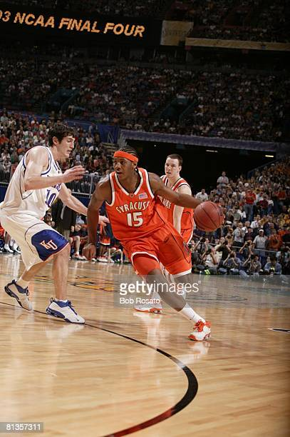 College Basketball NCAA Final Four Syracuse Carmelo Anthony in action vs Kansas New Orleans LA 4/7/2003