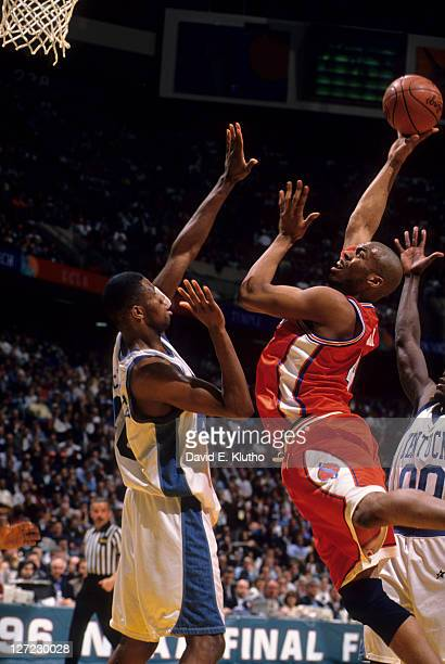 NCAA Final Four Syracuse Otis Hill in action vs Kentucky Walter McCarty at Brendan Byrne Arena East Rutherford NJ CREDIT David E Klutho