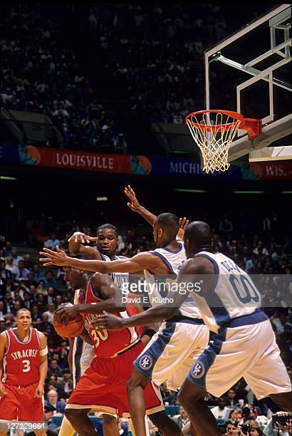 NCAA Final Four Syracuse Todd Burgan in action vs Kentucky defense at Brendan Byrne Arena East Rutherford NJ CREDIT David E Klutho