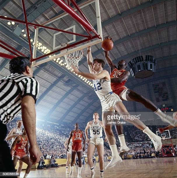 Final Four: Texas Western Harry Flournoy in action, rebound vs Kentucky Pat Riley at Cole Field House College Park, MD 3/19/1966 CREDIT: James Drake