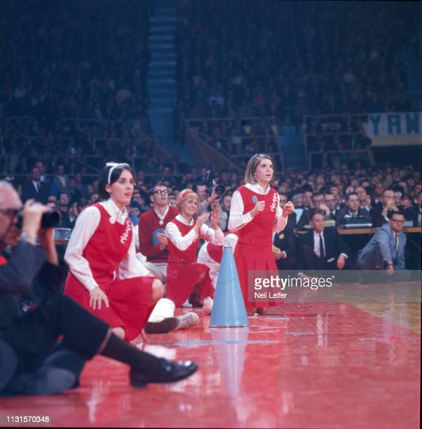 Final Four: View of Dayton cheerleader on sidelines during National Championship game vs UCLA at Freedom Hall. Louisville, KY 3/25/1967 CREDIT: Neil...