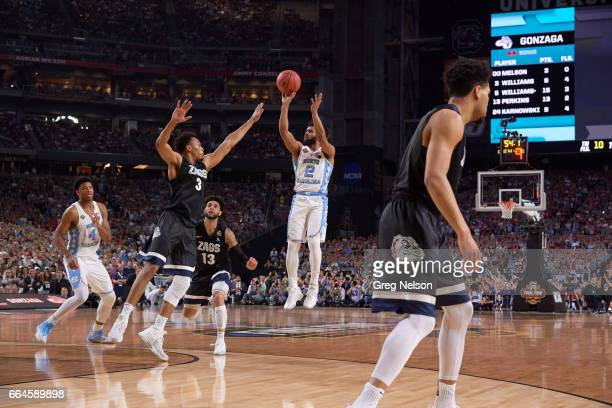 NCAA Finals North Carolina Joel Berry II in action shooting vs Gonzaga at University of Phoenix Stadium Glendale AZ CREDIT Greg Nelson