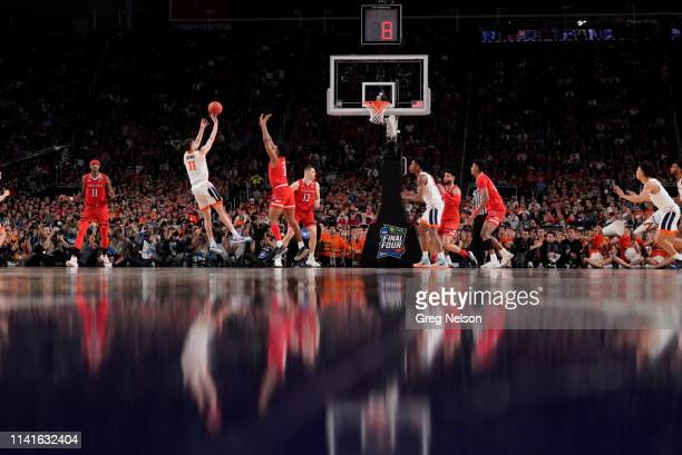 Finals: Virginia Ty Jerome in action, shooting vs Texas Tech at U.S. Bank Stadium. Minneapolis, MN 4/8/2019 CREDIT: Greg Nelson
