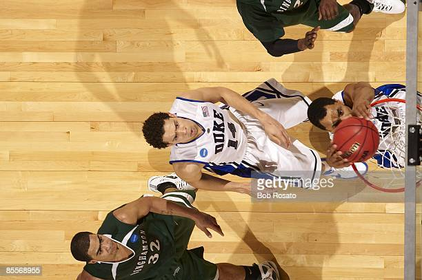 NCAA Playoffs Aerial view of Duke Gerald Henderson in action dunk vs Binghamton Greensboro NC 3/19/2009 CREDIT Bob Rosato