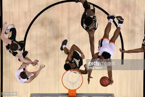 NCAA Playoffs Aerial view of Virginia Braxton Key in action vs Purdue at KFC Yum Center Louisville KY CREDIT Greg Nelson