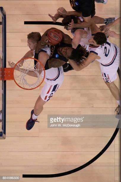 NCAA Playoffs Aerial view of Virginia Commonwealth Mo AlieCox in action vs St Mary's Jock Landale at Vivint Smart Home Arena Salt Lake City UT CREDIT...