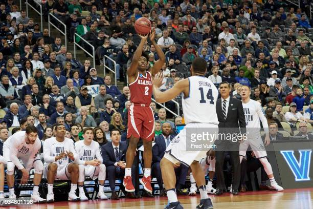NCAA Playoffs Alabama Collin Sexton in action shooting vs Villanova at PPG Paints Arena Pittsburgh PA CREDIT Fred Vuich