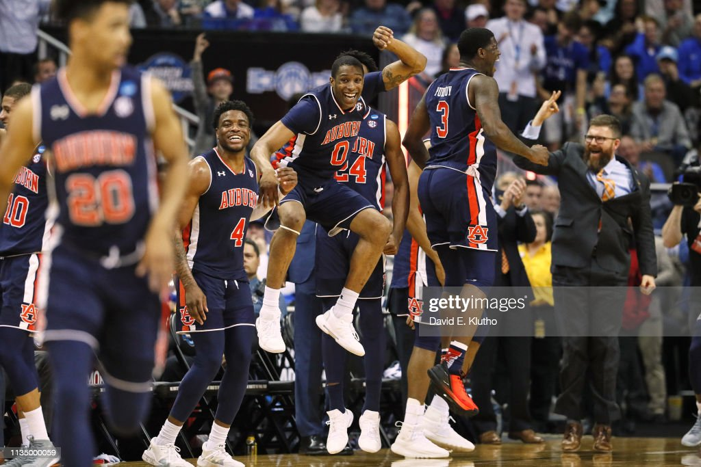 Auburn Horace Spencer Victorious With Teammates From Bench