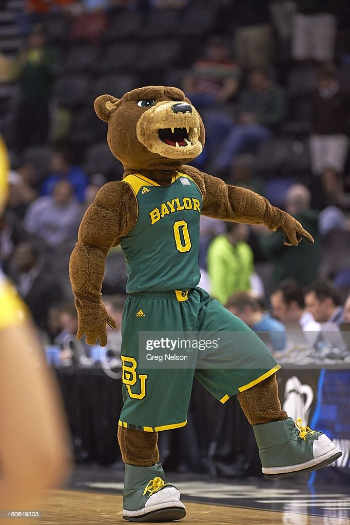 Baylor Bears Mascot Judge Joy On Court During Game Vs Creighton At