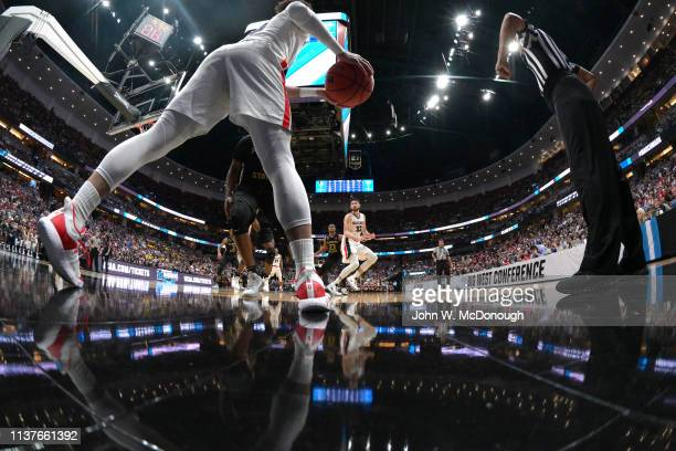 NCAA Playoffs Closeup of Gonzaga Brandon Clarke in action passing to Killian Tillie vs Florida State at Honda Center Anaheim CA CREDIT John W...