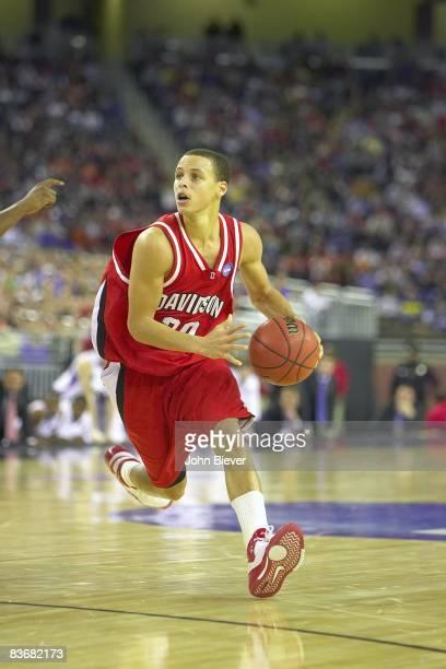 Playoffs: Davidson Stephen Curry in action vs Kansas. Detroit, MI 3/30/2008 CREDIT: John Biever