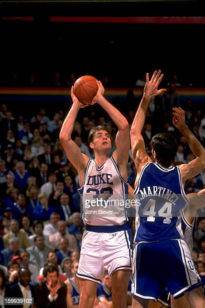 NCAA Playoffs Duke Christian Laettner in action shooting vs Kentucky at The Spectrum Philadelphia PA CREDIT John Biever