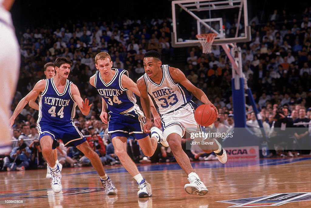 Duke Grant Hill (33) in action vs Kentucky. Philadelphia, PA 3/28/1992