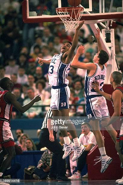 NCAA Playoffs Duke Grant Hill in action vs St John's at Pontiac Silverdome Pontiac MI CREDIT John Biever