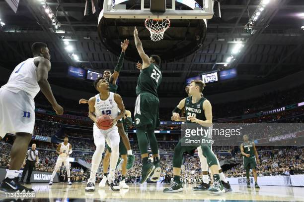 NCAA Playoffs Duke Javin DeLaurier in action vs Michigan State at Capital One Arena Washington DC CREDIT Simon Bruty