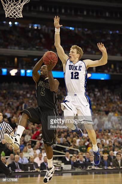NCAA Playoffs Duke Kyle Singler in action vs Purdue Keaton Grant Houston TX 3/26/2010 CREDIT Bob Rosato