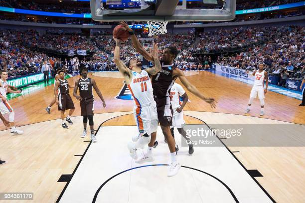 NCAA Playoffs Florida Chris Chiozza in action vs St Bonaventure Idris Taqqee at American Airlines Center Dallas TX CREDIT Greg Nelson